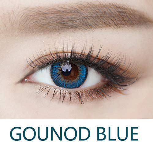 Cosplay Eyes Multi-Color Contact Lenses Cosplay Eyes Cute Colored Charm and Attractive Blends Cosmetic Makeup Eye Shadow (Blue) ()