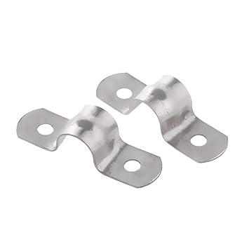 Bevorzugt MagiDeal Rohrklemme - 2 Stück Edelstahl U-Form Rohrschelle ND99
