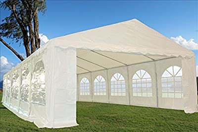 32'x16' Heavy Duty Wedding Party Tent Canopy Carport White