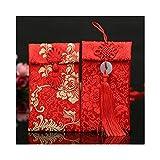 Lilith li Chinese Element Festive Silk Red Envelopes Gift Card Envelopes 2PCS/set(HF2G)