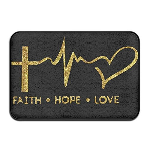 ACD&TV slip mat Faith Hope Love Christian Faith Bible Non Slip Doormat Entrance Mat Floor Mat Rug Dirt Trapper Mats 15.7''x23.6'' by ACD&TV slip mat