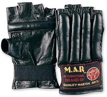 M.A.R InternationalLtd Genuine Leather Fingerless Cut Finger Bag Gloves Boxing Kickboxing Thai Boxing Mma Muay Thai