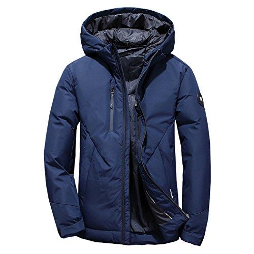 La Xxxl Piumino All'aperto Hhy giacca In Incappucciati Di Caldi Inverno Blu Degli Uomini Moda Corta x6xUqnI