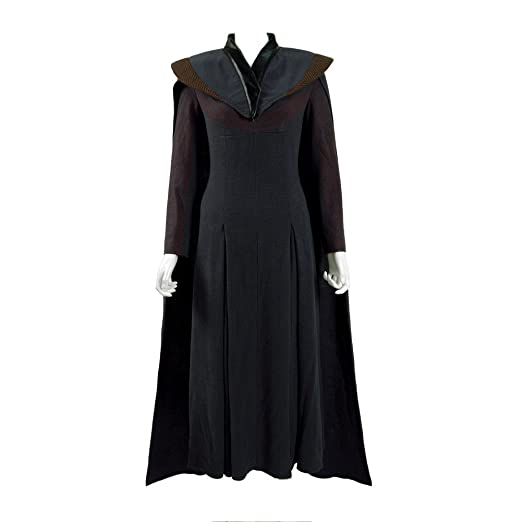 Amazon Daenerys Costume Halloween Black Dress With Cloak For