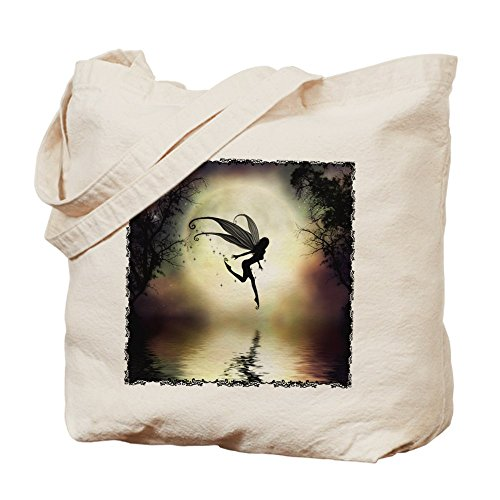 Moonlit Waters (CafePress - Moonlit Water - Natural Canvas Tote Bag, Cloth Shopping Bag)