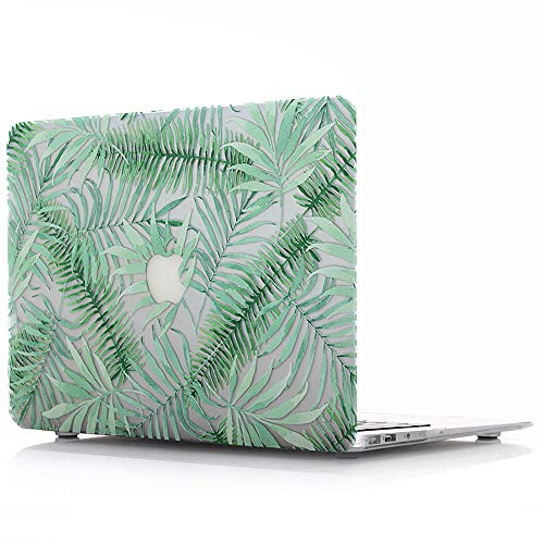 Hard Case for MacBook Air 13 inch Model A1369 / A1466 - AQYLQ Green Plant Plastic Frosted Rubber Coated Protective Shell Cover - Leaves ()