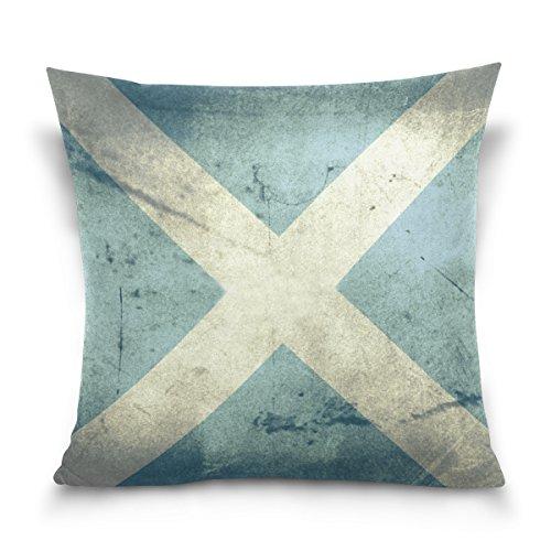 Top Carpenter Grunge Flag Of Scotland Velvet Plush Throw Pil