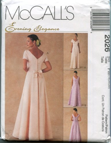 McCall's Sewing Pattern 2026 Size FW (18, 20, 22) Misses' Lined Gowns