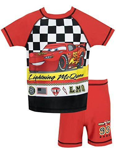 Disney Cars Boys' Lightning McQueen Two Piece Swim Set 3T]()