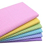 iNee Polka Dot Fat Quarters Quilting Fabric Bundles, Quilting Fabric for Sewing Crafting,18'x22',(Polka Dot)