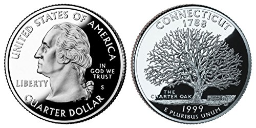 1999 S Proof Connecticut State Quarter PF1