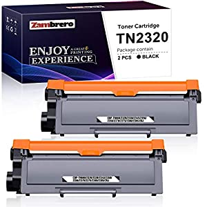 Zambrero TN2320 TN-2320 TN2310 TN-2310 Cartucho Tóner Compatible para Brother MFC-L2700DW MFC-L2720DW MFC-L2740DW MFC-L2700DN HL-L2300D HL-L2340DW DCP-L2520DW DCP-L2540DN DCP-L2500D (2 Negro)