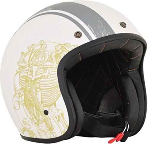 AFX FX-76 Raceway Helmet (Flat White/Gray, X-Small) 01042060