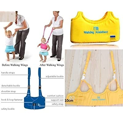 Baby Toddler Walking Assistant Learning to Walk Harness Walker for 6-18 Months Yellow : Baby