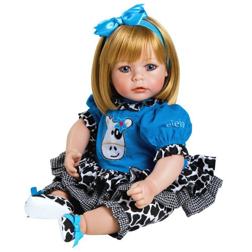 Adora Toddler E.I.E.I.O 20'' Girl Weighted Doll Gift Set for Children 6+ Huggable Vinyl Cuddly Snuggle Soft Body Toy by Adora