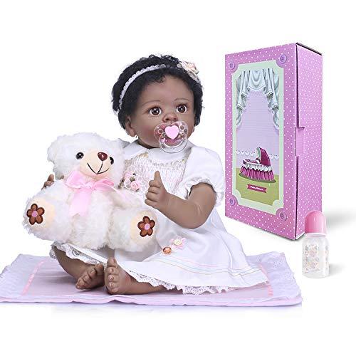 高い品質 Pinky 22インチ 55cm 本物そっくり ソフト育児人形 シリコンビニール リボーンベビードール 女の子 本物そっくり リアルなルック Pinky 幼児 新生児 赤ちゃん人形 リアルな手触り ブラック インディアン アフリカ 幼児 誕生日 クリスマスギフト B07GCLJ7PM, 月夜野町:82290b43 --- pmod.ru