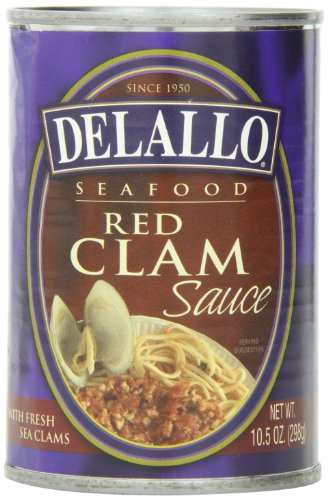 DeLallo Red Clam Sauce, 10.5-Ounce Cans (Pack of 12)