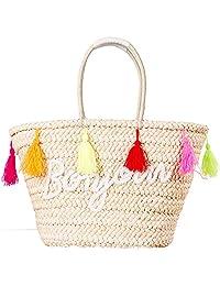 Tassel Straw Bag Summer Beach Tote Bag Women Handbags