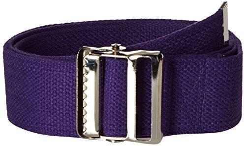 (Prestige Medical Cotton Gait Belt with Metal Buckle, Purple)