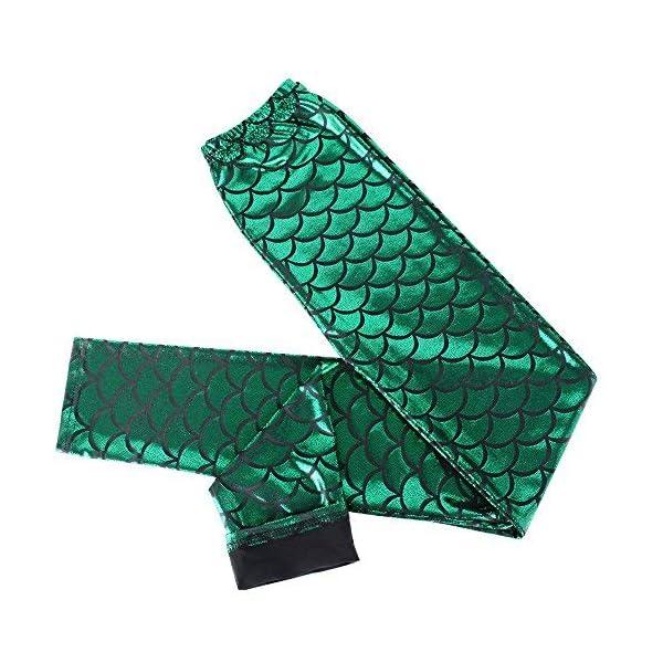 Legging Femme Sirène Vert et Bleu à Paillette Legging Slim Collant Sexy Jeggings Slim Extensible Push Up Fesse Treggings…