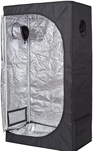 TopoLite 24 x24 x48 32 x32 x63 36 x36 x72 48 x24 x72 48 x48 x80 96 x48 x80 96 x96 x80 120 x120 x80 Indoor Grow Tent Hydroponic Growing Dark Room w Plastic Corner 36 x20 x63