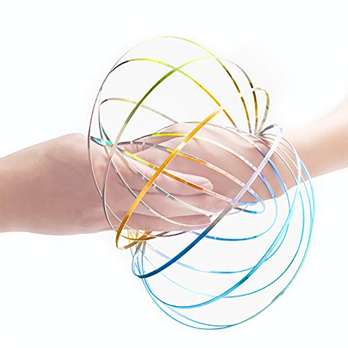 Price comparison product image Emulily Flow Ring Kinetic 3D Spring Toy Sculpture Ring Game Toy For Kids Boys And Girl (Multi)