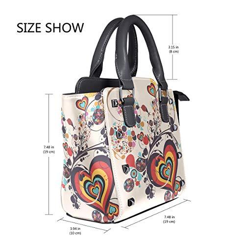 FANTAZIO coach handbags Heart Flower Music Painting for party/Shopping