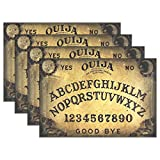 """HoDeColor Dangerous Magical Game Ouija Board Pattern Placemats Table Mat Set of 4, 12"""" x 18"""" Washable Table Place Mats for Kitchen Dining Room Table Decoration"""