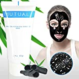 Mutual Blackhead Remover Mask, Natural Bamboo Charcoal Peel Off Mask, Black Mask for Whitehead, Acne, Oil-control