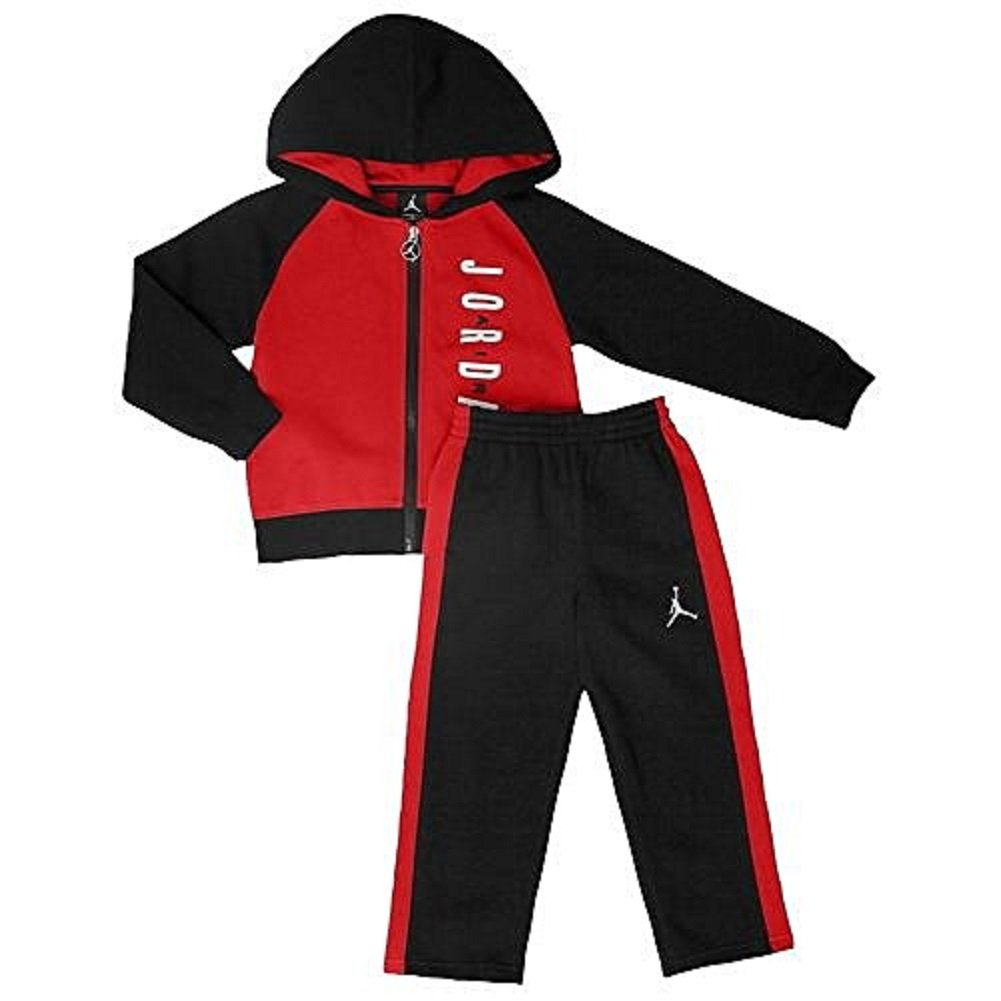 e48225c9ab78ac Amazon.com  Nike Air Jordan Fleece Hoodie   Active Sweatpants Set -Baby  Boys 18M  Baby