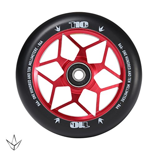 Envy Scooters Diamond Wheels 110mm Pair Red