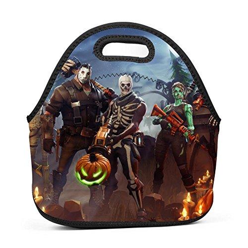 HSQGOODQUALITY For-tnite Halloween Battle Adults/Men/Women/Kids Bento Boxes Rugged Lunch Bag Tour School Work Lunchbox Multi-fonction Handbag -