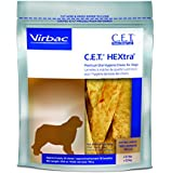 Virbac C.E.T. HEXtra Premium Oral Hygiene Chews for Dogs (1 Pouch), X-Large