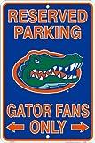 Florida Gators Fans Reserved Parking Sign Metal 8 x 12 embossed