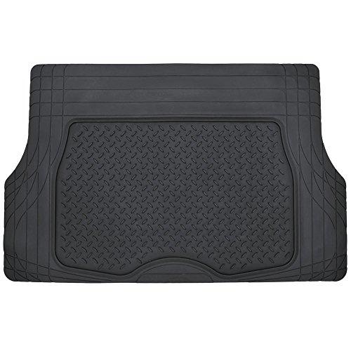 Motor Trend 4pc Black Car Floor Mats Set Rubber Tortoise
