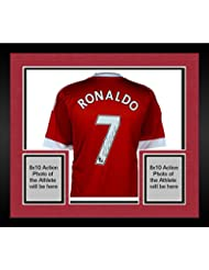 Framed Cristiano Ronaldo Manchester United Autographed Red Jersey - Fanatics Authentic Certified - Autographed Soccer Jerseys