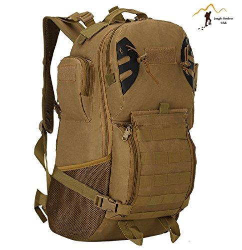 Jungle Oxford Neue 45L Tactical Rucksack Outdoor Reise Rucksack Molle Big Bags Camouflage Tactical Taschen Wild Rucksack Tasche Wandern Klettern Rucksack, Khaki