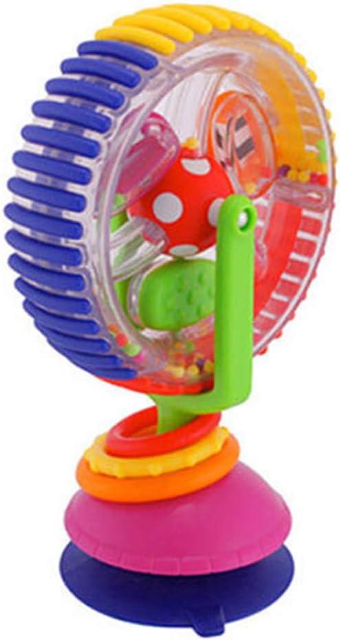 Peahop Baby Ferris Wheel Toy, Tricolor Ferris Wheel Model Toy Pram Early Learning Sucker Toy