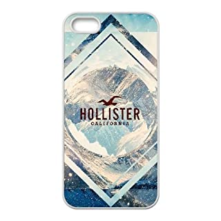 JiHuaiGu (TM) iPhone 5 5s funda Blanco Hollister Tema personalizado iPhone 5 5s funda LD8109