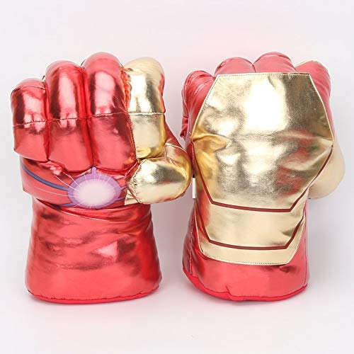 hhh Soft, Big, Plush and Durable Superhero Costume Gloves – 33cm (Iron -