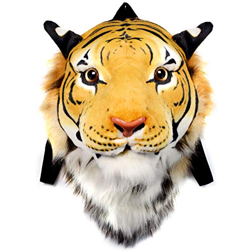 (VIAHART Authentic Tigerdome Orange Bengal Tiger Animal Head Backpack and Wall Mount | Shipping from Texas )