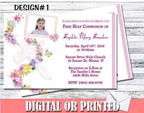 Communion Baptism Personalized Invitations More Designs Inside! - First Communion Photo Invitations