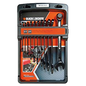 Black & Decker BDHT0-71618 Set 11 Chiavi Combinate, Nero 51rTMQ cz6L. SS300