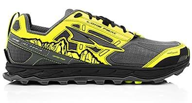 Altra AFM1855F Men's Lone Peak 4.0 Trail Running Shoe, Gray/Yellow - 8.5 D(M) US