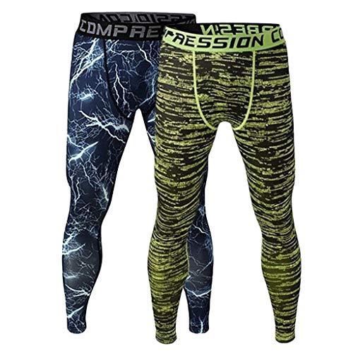 Casual Uomo Moderna Haidean Pantalone Da Lunghe 2 Mutande Pantaloni Fitness Set Leggings blau Grün Sottotuta Compressione xEqSzw8Rqn