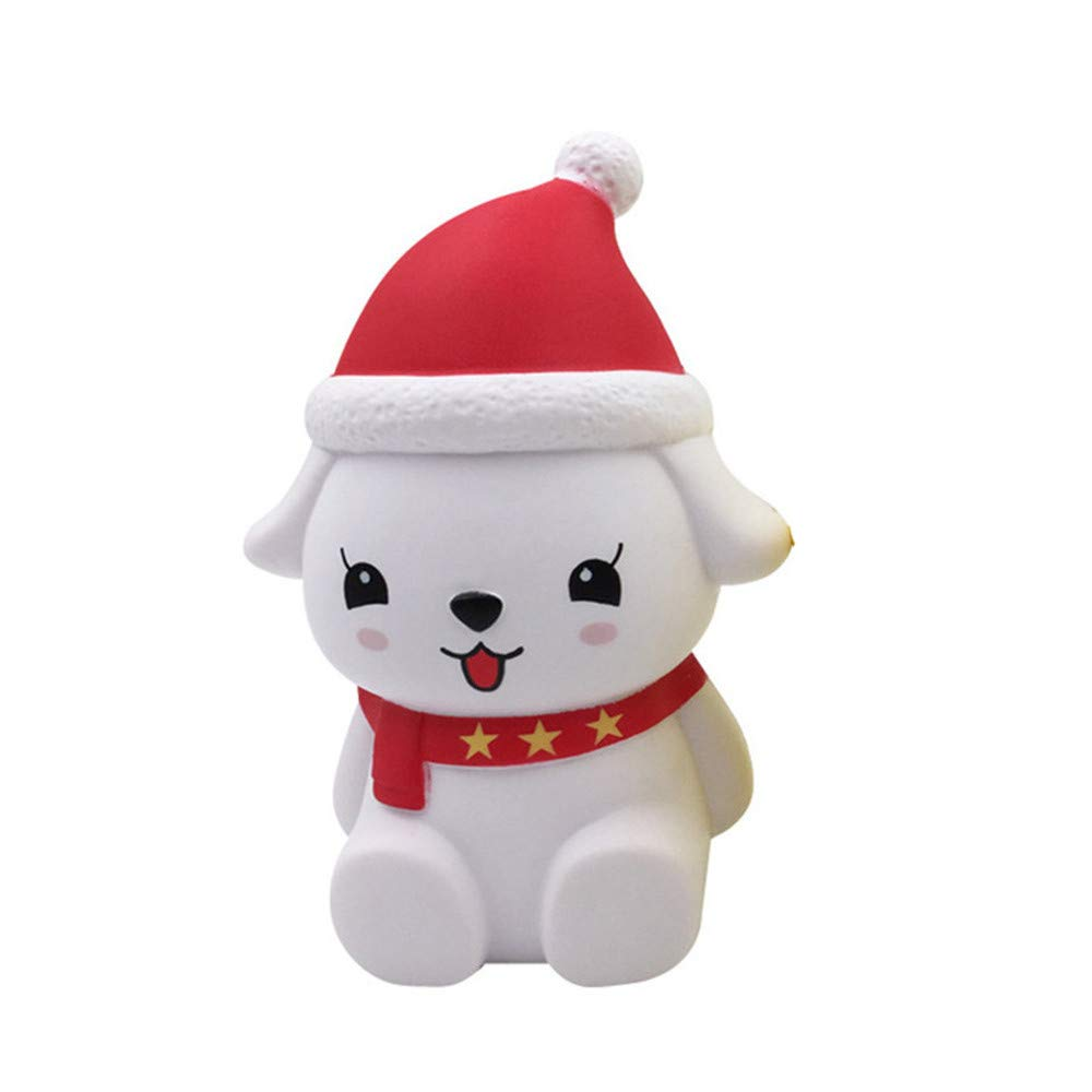 Homeparty Christmas Cute Dog Soft Scented Stuffed Slow Rising Toys Stress Relief Toy