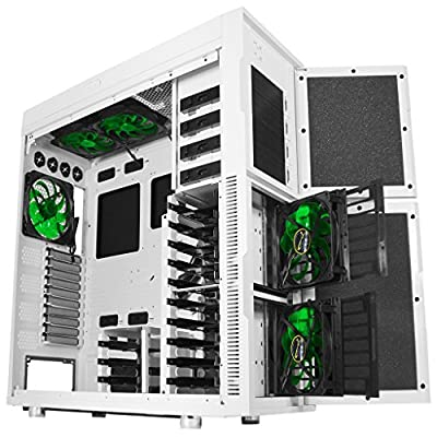 Nanoxia Deep Silence 6 Rev. B Gigantic Big Tower Case Fits HPTX Motherboard, Large Liquid Coolers Ready, with 6 Fan Controllers - White