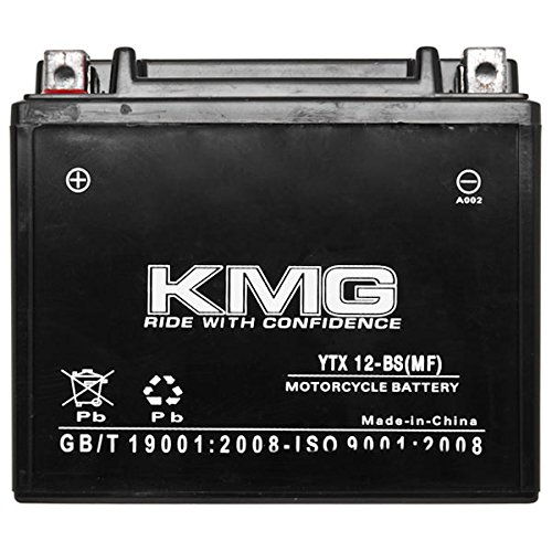 KMG Kawasaki 900 Vulcan 900 Classic 2006-2012 YTX12-BS Sealed Maintenace Free Battery High Performance 12V SMF OEM Replacement Maintenance Free Powersport Motorcycle ATV Scooter Snowmobile KMG