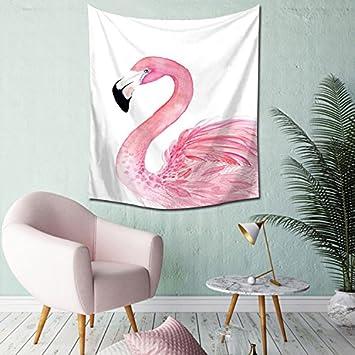 Nordic Viento, Flamingo Tapiz, Sala Infantil, Dormitorio, Sala De Estar, Dormitorio, Pintura En Tela De Fondo, ...