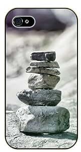 iPhone 5 / 5s Zen rocks equilibrium - black plastic case / Nature, Animals, Places Series